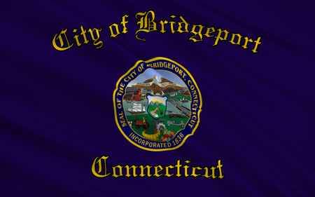 The national flag of Bridgeport - a city in the United States, in Connecticut