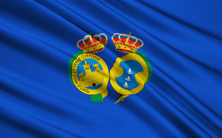 huelva: Flag of Huelva - Province in the southwest of Spain in the autonomous community of Andalusia. The administrative center - Huelva.