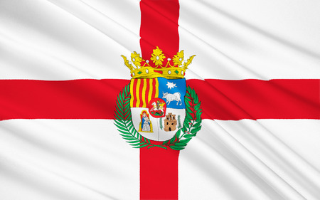 Flag of Teruel - Province in the east of Spain in the autonomous community of Aragon. The administrative center - Teruel.