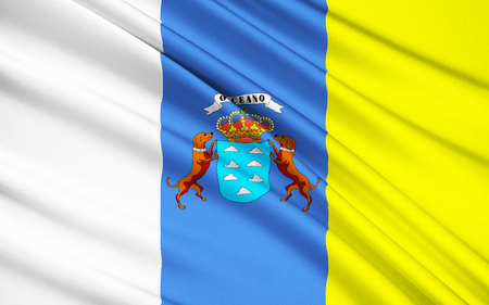 origins: The flag of the Autonomous Community of the Canary Islands - The tricolour flag has its origins in the Canarias Libre movement of the 1960s.