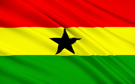 flown: The flag of Ghana - designed and adopted in 1957 and was flown until 1959, and then reinstated in 1966. It consists of the Pan-African colours of red, yellow, and green