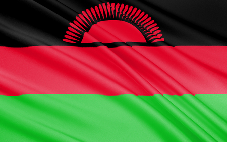 became: Flag of Malawi - officially adopted on 6th July 1964 when the colony of Nyasaland became independent from British rule and renamed itself Malawi. Stock Photo