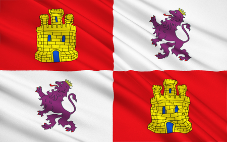 castilla: Flag of Castile and Leon Valencian Community autonomous region in the north-west Spain. Capital - Valladolid.
