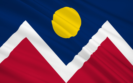 The national flag of Denver - City and County of Denver - the largest city and capital of the State of Colorado