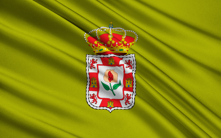 iberian: Flag of Granada - Province of southern Spain in the autonomous community of Andalusia. The administrative center - Granada.
