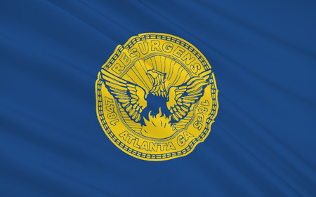 empire state: The national flag of Atlanta - a city in the US capital and largest city in the state of Georgia, the administrative center of Fulton County