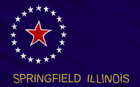 midwest: The national flag of Springfield - city in the Midwest, the capital of the State of Illinois