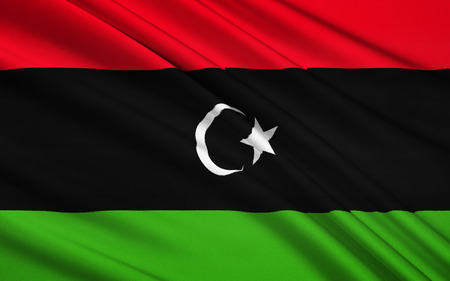 transitional: Flag of Libya - originally introduced in 1951. It fell out of use in 1969, but was subsequently adopted by the National Transitional Council and anti-Gaddafi forces and formally reclaimed as the Libyan national flag in the interim Constitutional Declarati