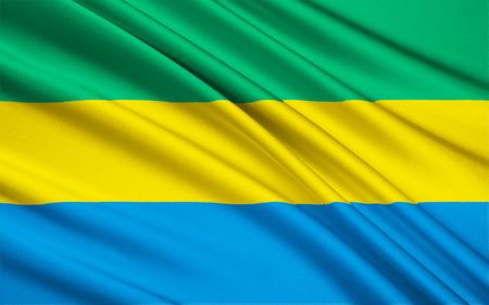 gabon: The national flag of Gabon Stock Photo