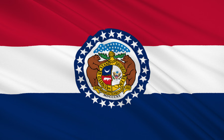 jefferson: The national flag of the State of Missouri, Jefferson City - United States