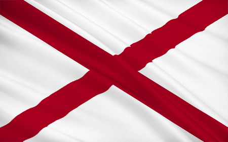 montgomery: The state flag of Alabama, Montgomery - United States Stock Photo