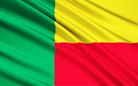 benin: The national flag of Benin Stock Photo