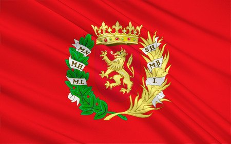 northeast: Flag of Zaragoza - a city in the northeast of Spain, the capital of the autonomous region of Aragon, Zaragoza province and the district of the same name.