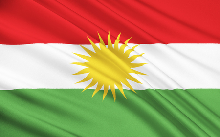 majority: Flag of Kurdistan - ethno-geographical area in the Near East, within which Kurds constitute an absolute or relative majority of the population