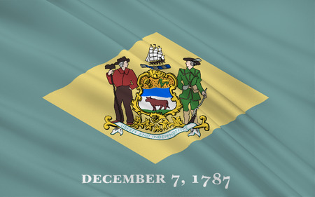 dover: The national flag of the State of Delaware, Dover - United States