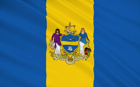 フィラデルフィア - アメリカ合衆国で最も古い都市、ペンシルバニア州の最も人口の多い都市の 1 つの国旗