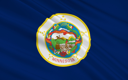 paul: The national flag of the State of Minnesota, St. Paul - United States