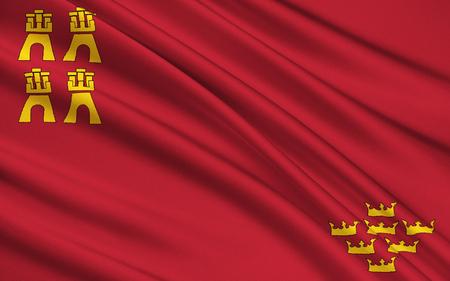 murcia: Flag of Region Murcia, Spain