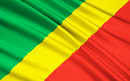 zaire: The national Flag of the Republic of the Congo Congo-Brazzaville Stock Photo