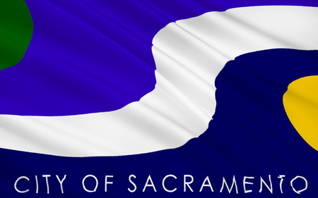 The national flag of Sacramento - a city in the western United States on the confluence of the American River in Sacramento River, the capital of the State of California and Sacramento County