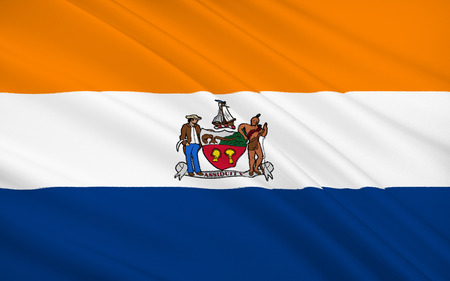 albany: The national flag of Albany - a city in the northeastern United States, the capital of the State of New York and the District of Albany.