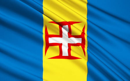 discovered: The flag of the Madeira archipelago features a red-bordered white Cross of Christ in the center, alluding the fact that it was discovered by two knights of the Household Henry the Navigator - Joao Goncalves Zarco and Tristao Vaz Teixeira.