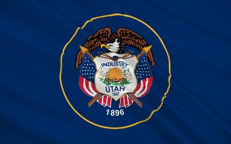 The national flag the State of Utah, Salt Lake City - United States