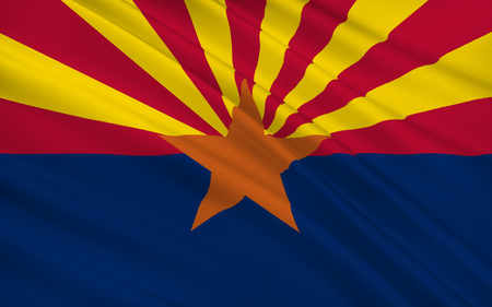 phoenix arizona: The state flag of Arizona, Phoenix - United States