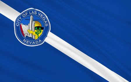 las vegas city: The national flag of Las Vegas - a city in the western United States, in Nevada, the administrative center of the southernmost state in Clark County.