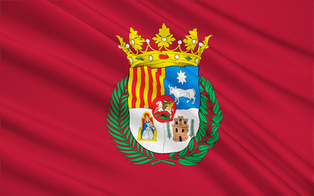 Flag of Teruel - a city in Spain, the autonomous community of Aragon, the administrative center of the province of the same name.