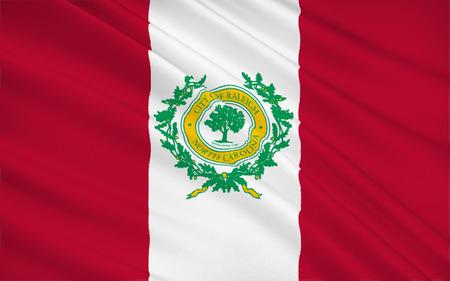 north carolina: The national flag of Raleigh - the capital of North Carolina USA Stock Photo