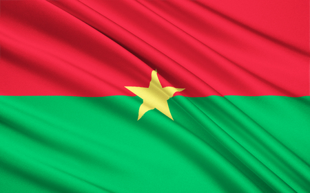landlocked country: Flag of Burkina Faso - adopted on 4th August 1984. The flag uses the Pan-African colors, reflecting both a break with its colonial past and its unity with other African ex-colonies.