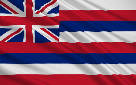 hawaii flag: The national flag of the State of Hawaii, Honolulu - United States Stock Photo
