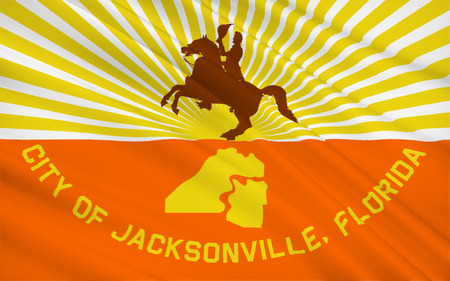 populous: The national flag of Jacksonville - most populous city in the US state of Florida and the twelfth most populous city in the United States