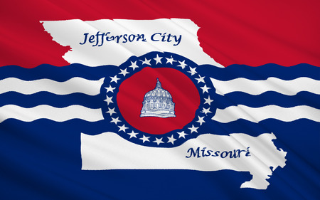 jefferson: The national flag of Jefferson City - the capital of the State of Missouri, USA, is also the main city of the county Cole.