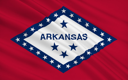 opportunity concept: The state flag of Arkansas, Little Rock - United States