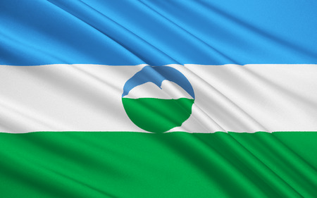 subject: The national flag subject of the Russian Federation - Republic of Kabardino-Balkaria, Nalchik