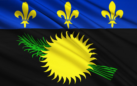 guadeloupe: The national flag Guadeloupe, France - Basse-Terre