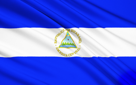 central america: The flag of Nicaragua was officially adopted on August 27th 1971 first used in 1908. It is based on the flag of the Federal Republic of Central America and inspired by the Argentine flag.