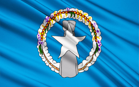 micronesia: The national flag of Northern Mariana Islands USA, Saipan - Micronesia