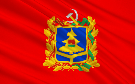 oblast: The flag subject of the Russian Federation - Bryansk Oblast, Central Federal District, the East European Plain Stock Photo