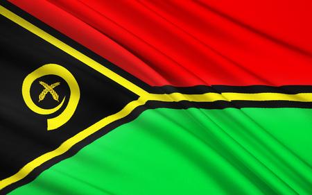 vanuatu: The national flag of Vanuatu, Melanesia