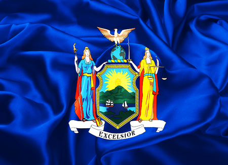 albany: The national flag of the State of New York, Albany - United States Stock Photo