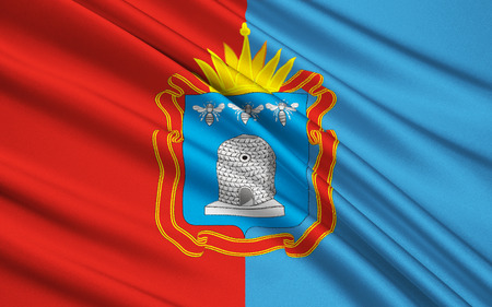 oblast: The flag subject of the Russian Federation - Tambov Oblast, Central Federal District Stock Photo