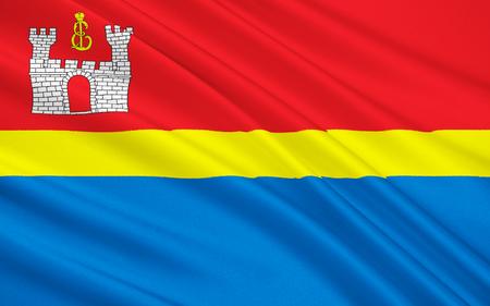 soumis: Le drapeau sujet de la Fédération de Russie - Kaliningrad Oblast, District Fédéral du Nord Banque d'images