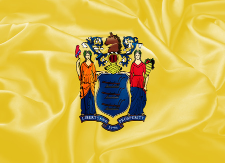 jersey: The national flag of the State of New Jersey, Trenton - United States
