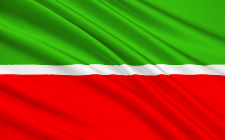 subject: The national flag subject of the Russian Federation - Republic of Tatarstan, Kazan, Volga Federal District Stock Photo