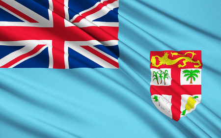 fiji: The national flag of Fiji, Suva - Melanesia