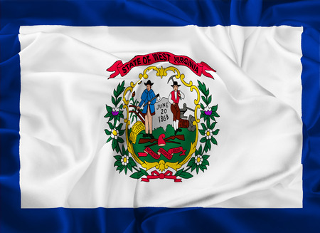 3d virginia: The national flag of the State of West Virginia, Charleston - United States