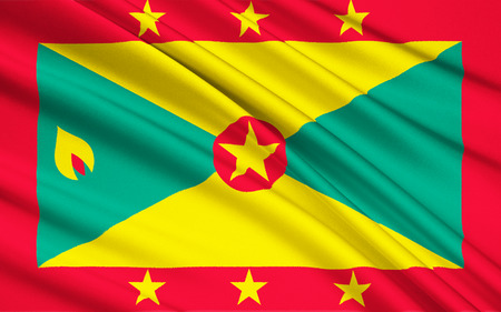 saint george: The national flag of Grenada was adopted on independence from the United Kingdom on the 7th February 1974.